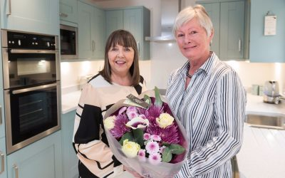 Satisfied customer delighted with her new home at Temple Gate, Richmond